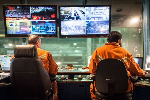 2 Men in AltaSteel Control Room